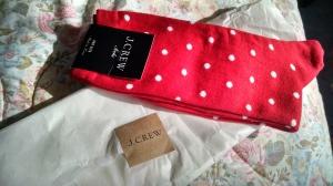 Blues Dot Trouser Sock   $9
